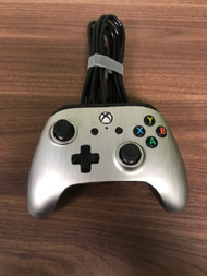 PowerA Enhanced Wired Controller For Xbox One Brushed Aluminum Gamepad - EE733439