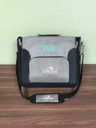 Huskee Console Black/gray Travel Bag With Strap Grey For Wii - EE733595
