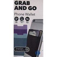 3 Pack Phone Wallet Pack 1 Each Black Purple And Turquoise Case Cover - EE735100