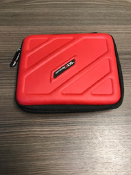 Nintendo Red Rubberized Zipper Case For 3DS Travel XPH032 - EE735519