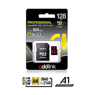 Addlink 128GB Micro SD Card SDXC U3 V30 A1 Memory Card With Adapter - EE735874