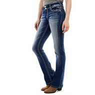 Wallflower Women's Instastretch Luscious Curvy Bootcut Jeans Jenna 3 - EE739606