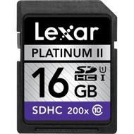 Lexar Media 16GB Platinum II 200X SDHC Memory Card - EE740118