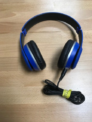 On The Ear 3.5MM Wired Blue Headphones Earphones - EE740640