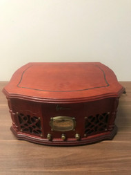 Emerson NR101TT Heritage Home Stereo Brown Record Player - EE741032