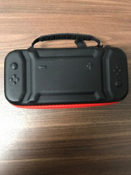 Nintendo Switch Black And Red Deluxe Carrying Case Holds 10 Game - EE741145