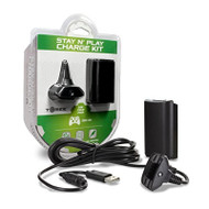 Tomee Stay N Play Controller Charge Kit For Xbox 360 Black - EE742639