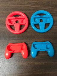 Nintendo Switch Joy-Con Steering Wheels And Grips Blue And Red - EE742737