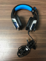 Hunterspider Over The Ear 3.5 MM Gaming Black And Blue Headset With - EE742856