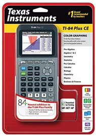 Texas Instruments TI-84 Plus Ce Silver Graphing Calculator - EE743023