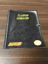 Nintendo Power Top Secret Classified Information Strategy Guide  - EE743025
