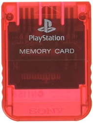 Ps One Crimson Red Memory Card For PlayStation 1 PS1 Expansion 7279 - EE743965