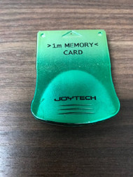 Green 1MB Memory Card For PlayStation 1 PS1 Expansion - EE743995