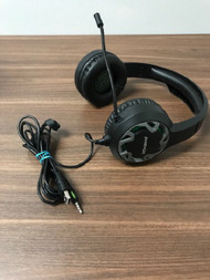 Phenom Video Gaming 3.5 MM And USB Wired Black Headset Model MI-H003G - EE744048