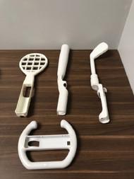 Wii Sports Bundle Tennis Racket Golf Club Baseball Bat Racing Wheel - EE744104