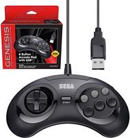 Retro-Bit Official Sega Genesis USB Controller 6-BUTTON Arcade Pad For - EE744231