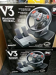 Interact V3 Racing Wheel For Windows And Dos Games Black TGB408 - EE744246