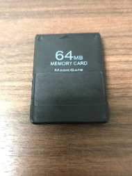 Magic Gate 64 MB Memory Card Black For Playstation 2 PS2 - EE744279