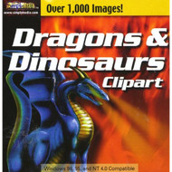 Dragons & Dinosaurs Clipart Software - DD586395