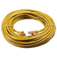 QVS CC715-25YW 25 Ft CAT6 Gigabit Flexible Molded Yellow Patch Cord - DD607450