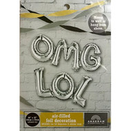 Omg Lol Air-Filled Foil Decoration Silver - DD630080