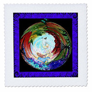 "3DROSE Qs 4078 2 Healing Quilt Square 6 By 6"" - DD630680"