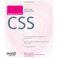 Advanced Css Paperback by Lewis Joe Moscovitz Meitar Book - E460429