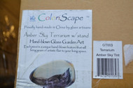 Coloriscape Terrarium Sky Tint With Stand Yard Art Amber - EE502547
