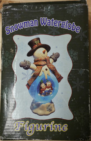 Snowman Water Globe Figurine For Christmas - EE537294