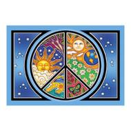 2 X Dan Morris Peace Symbol Postcard 6'' X 4'' - EE557526