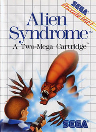 Alien Syndrome For Sega Master Vintage With Manual And Case - EE605744