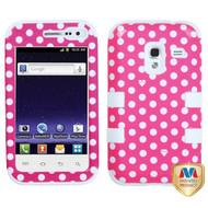 Hard Plastic Snap On Cover Fits Samsung R820 Galaxy Admire 4G Dots - RR494268