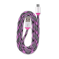 Electrical QuickCharge Braided Micro USB Cable 3'/0.9M Pink - DD609453