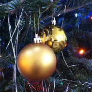 Plastic Shatterproof Ornament Balls 20CT Gold - EE537251