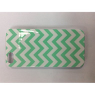 iConcepts Hardshell Case For iPhone 5 5S SE Zigzag Waves Design Green - EE541145