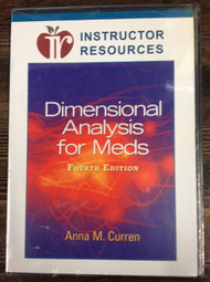 Instructor Resource CD For Dimensional Analysis For Meds 4th Ed - EE498441