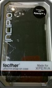 Incipio SE-216 Feather Case For The Sony Xperia L 1 Pack Black Cover - DD587878