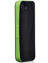 Xdoria iPhone 4 4S Fit Verge Black/Green Case Cover Fitted - EE320657