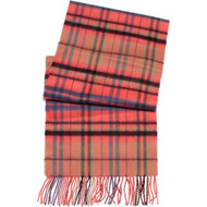 D&y By David Young Softer Than Cashmere Scarf Plaid Pink - EE469135