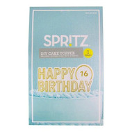 SpritzTM Cake Topper Happy Birthday Diy 1 Count - DD630505