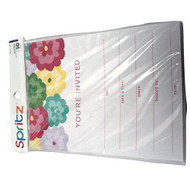 Sprits Simple Floral Invitations 10 Pack With Floral Envelopes - DD629615