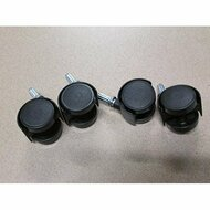 "Sterilite Replacement Casters Set Of 4 1"" Stem EE475968 - ZZ574897"