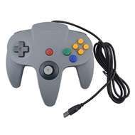 Generic Wired USB Joystick Look Like For N64 Controller For PC Gray - ZZ612819