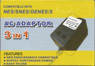 Universal 3 In 1 Power Adapter NES SNES Genesis Super Sega - ZZ527708