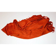 Rust Red Orange Pashmina Style Scarf - EE471637