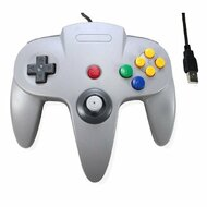 Classic N64 Bit USB Wired Controller For PC And MAC Grey Gray Gamepad - ZZ582117