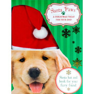Santa Paws Book With A Santa Dog Hat For Dogs - EE469112