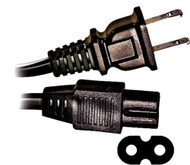 2 Prong Cable Fits Xbox Psx Saturn Systems PS1 PS2 PS3 PS4 Power - ZZ0030757