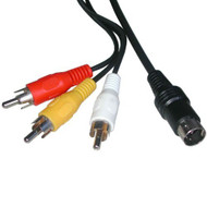 Composite AV Cable For Sega Saturn By Mars Devices A/V - ZZZ99003