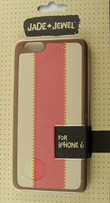 Jade & Jewel For iPhone 6 Brown And Pink Faux Leather - EE530892